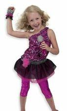 Melissa & Doug Rock Star Role Play Costume Set (4 pcs) - Includes Zebra-Print D