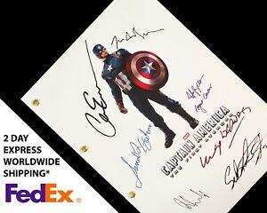 Captain America The First Avenger TV Film Script Screenplay Signatures Autograph