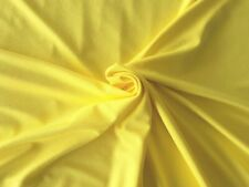Top Quality 4 way stretch Primrose Yellow Viscose Lycra jersey fabric  240g/sm