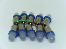 10 Pinball 6.3 Volt Led Blue Frosted Replacement Bulbs 44/47 Bayonet Base Ba9S