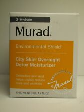 Murad city skin overnight detox moisturizer reduce lines , wrinkles 50ml/1.7fl.