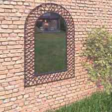 vidaXL Garden Wall Mirror Arched 50x80cm Black Outdoor Window Illusion Decor