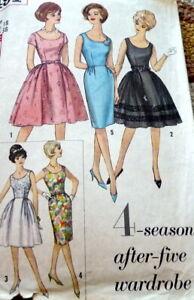 LOVELY VTG 1960s DRESS Sewing Pattern 18/38