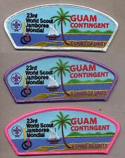 23rd world scout jamboree GUAM CSP JSP Contingent badges complete set of 3 2015