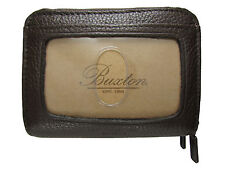 New Buxton Womens Mini Leather Credit Card ID Wizard Wallet Purse Brown