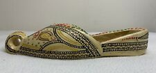 Ceramic Exotic Decorated Hand painted Shoe Wall Pocket 11� X 4.25� Wide X 2�