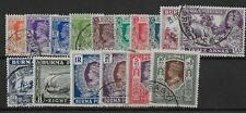 BURMA 1938-40 set of 16 to 10r - 30213