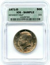 1971-D Kennedy Half Dollar, ICG Sample Graded, Uncirculated Flashy Coin!