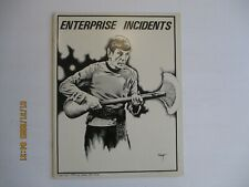 ENTERPRISE INCIDENTS #1 STAR TREK FANZINE 1976 NICE