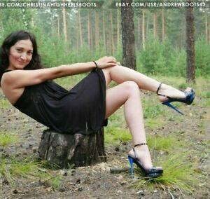 GIANMARCO LORENZI EU 38 US 7,5 double platform stiletto heels slingbacks VIDEO