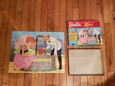 vintage Whitman Barbie and Ken 100 piece Jigsaw Puzzle complete 1963 Mattel