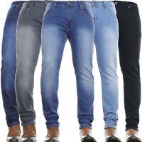 Mens Jeans Slim Leg Regular Stretch Basic Denim Pants New **Limited Time Offer**