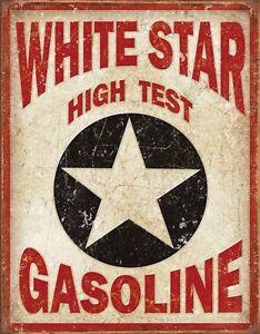 White Star Gasoline metal sign  400mm x 300mm   (de)