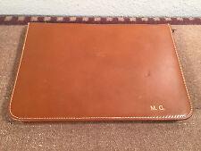vintage 60's genuine leather portfolio primitive daytimer