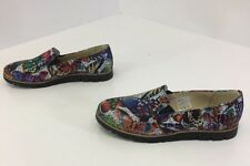 ZAPATO WOMEN'S LEATHER BUTTERFLY MOSAIC LOAFERS MULTICOLOR EUR 39/US 9 NEW