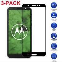 3-Pack For Motorola G7 Power/Supra Full Cover Tempered Glass Screen Protector
