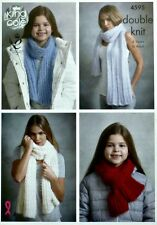 KNITTING PATTERN Ladies/Girls Shawls, Wrap and Scarf DK King Cole 4595