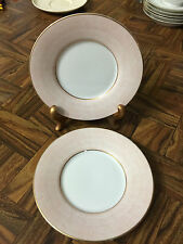 """Fitz and Floyd Lot of two ( 2 ) """"Adobe Peach"""" Porcelain Saucer / Dessert Plates"""