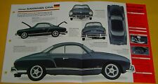1958 VW Volkswagen Karmann Ghia Flat 4 Cyl 1584cc 78hp IMP Info/Specs/photo 15x9