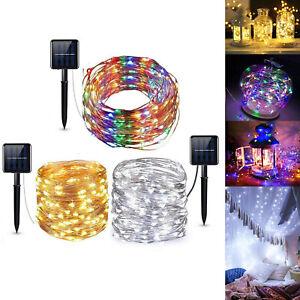 10M LED énergie solaire fée guirlande lumineuse fête de Noël décor jardin lampe