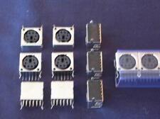 6 pin Mini Din Female Right Angle PCB Shielded Housing Socket Lot of 25 * NEW *