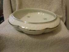 Vintage Dresden Centerpiece Console Bowl with Roses