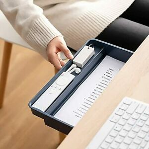 Under Desk Drawer, Large Hidden Self-Adhesive Under Table Drawer for Office