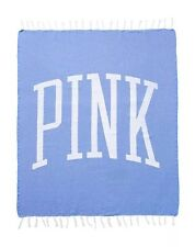 Victoria's Secret 2017 'Pink' Cotton Beach Blanket W Tassels Fringe color Blue