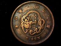 2 sen 1876 Japón era Meiji (Ta3)