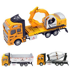 1:48 PullBack Construction Truck Dump Car Cement Mixer Model Toy for Child Gift