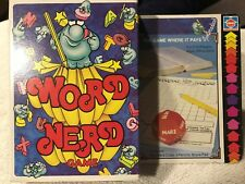 Vintage 1979 Hasbro WORD NERD Game Complete in Box with Dice 4 Pencils Pad