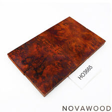 ROTES AMBOINA MASER MESSER SCHALENPAAR HOLZ SCALES AMBOYNA BURL SCALES HO3665