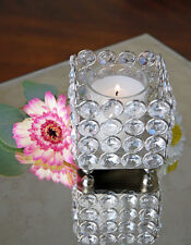 Crystal Votive Candle Holders Wedding Centerpieces 3x3 Inch