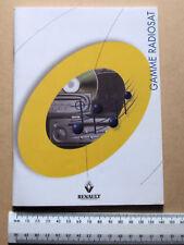 Renault Gamme Radiosat manual en inglés y otros 6 idiomas de 100 páginas