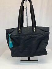 COACH Black Hampton Nylon Twill & Leather Tote Satchel Diaper Bag #10697