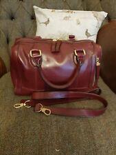 Fiorelli Burgundy Claret Leather Grap/Shoulder/cross body Bag.
