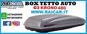 Box auto baule da tetto shuttle portapacchi viaggi KRONO 480 g3 22.205 grigio