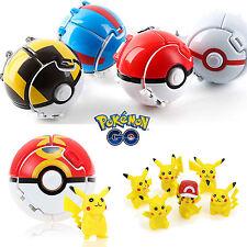 Niños Pokemon Pikachu Pop-Up Pokeball DIBUJOS BOLSILLO montruo plástico