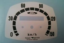Honda KMH Dream CA77 CA72 meter Gauge Overlay Decal Yaszaki speedo dial clock