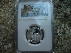 2019 s .999 silver proof Lowell quarter NGC PF 70 ultra Cameo First Day of Issue