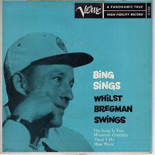 7inch BING CROSBY Bing sings Whilst, Bregman Swings EP US VERVE (S1400)