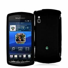 Hard Rubberized Case for Sony Ericsson Xperia Play R800 - Black
