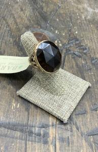 Barse Enchanted Oval Ring-Smoky Quartz- 6-Bronze- NWT