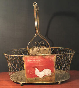 Rustic French Style Country Egg Basket