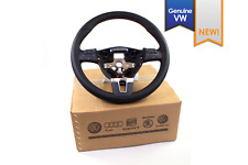 NEW EURO VW OEM Mk6 Jetta Black Leather Brown Multi Function Steering Wheel