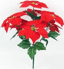 Christmas Flower Poinsettia 6 Flowers Decor Wedding Bouquet Artificial Table