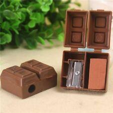 2stk Chocolate Bleistiftspitzer W/Radiergummi  Anspitzer  Bleistiftspitzmaschine