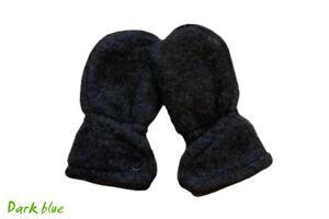 IOBIO Mittens 100% WOOL newborn baby organic scratch fleece winter arm warmers