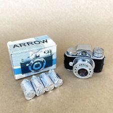 Arrow Vintage Subminiature Spy Film Camera Hit Type W/ Box & Film, Nice