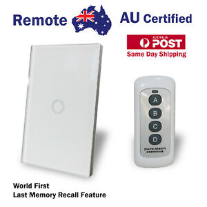 Remote Smart Touch  Smart Home Automation 1 Gang Wall Switch Glass Panel